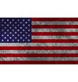 American flag grunge vector
