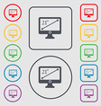 Diagonal of the monitor 21 inches icon sign symbol vector