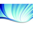 Blue abstract swirl on a banner vector