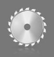 Saw blade icon vector