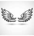 Angel wings doodle style vector