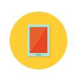 Tablet icon over orange vector