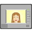Intercom with video vector