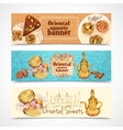 Oriental sweets banners vector