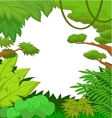 Cartoon tropical jungle background vector