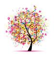 Abstract celebration tree vector