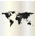 Black political world map vector