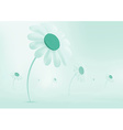Daisies growing in a meadow everything is covered vector