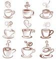 Doodle coffee cup vector