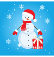 Snowman gift vector
