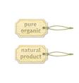 Organic tags set 12 vector