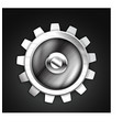 Metallic gear icon design vector