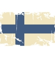Finnish grunge flag vector