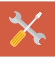 Repair tools icon technological instrument flat vector