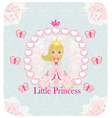 Little princess abstract card vector