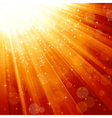 Magic stars descending on beams of light vector
