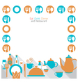 Dinner restaurant and eating frame vector