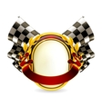 Flag checkered emblem vector
