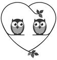 Owl heart vector