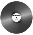 Vinyl record retro music disc background vector