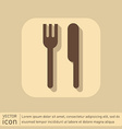 Fork and knife symbol lunch cutlery vector