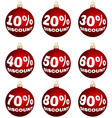 Christmas or year-end or new year discount labels vector