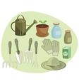 Gardening set vector