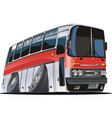 Cartoon tourist bus vector