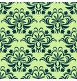 Retro light green floral seamless pattern vector