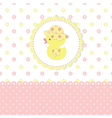 Baby shower with duckling vector