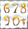 Autumn tree number vector