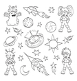 Cartoon outer space set vector