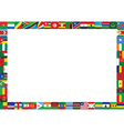 Frame made of african countries flags vector