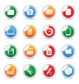 Media sticker icons vector