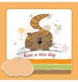 Kitty wishes you a nice day vector