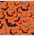 Bat seamless dark and orange autumn halloween vector