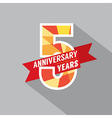 5th years anniversary celebration design vector