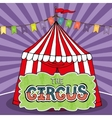 Circus tent poster vector