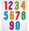 Extensive colorful animated rounded numbers with vector