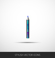 Pencil icon in a flat style with shadow vector