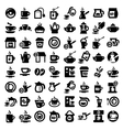 Big coffee and tea icons set vector