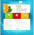 Template business website vector