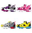 Running shoes sneakers vector