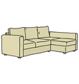 Cream big couch vector