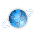 Blue globe of the world vector