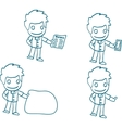 Man with idea cartoon hand-drawn vector