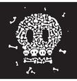 Skeleton and bones vector