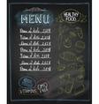 Chalkboard healthy food menu vector