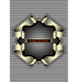 Silver frame for the badge on striped background vector
