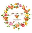 Vintage roses frame card vector
